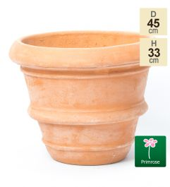 D44.5cm Terracotta Rolled Rim Planter