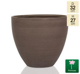 D32cm Light Polystone Large Egg Shape Planter in Brown