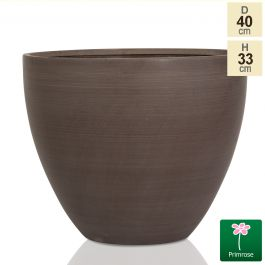 D40cm Light Polystone Extra Large Egg Shape Planter in Brown