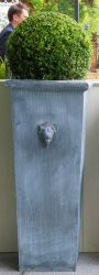 H120cm Lion Head Tall Galvanised Zinc Planter