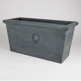 H100cm Lion Head Trough Galvanised Zinc Planter
