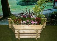 Wooden Slat Window Seat Planter - 122 x 63.5cm