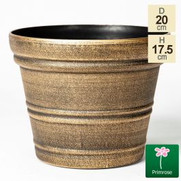 20cm Traditional Round Pot in Gold by Primrose™