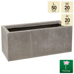 50cm Fibrecotta Small Cement Finish Trough Planter