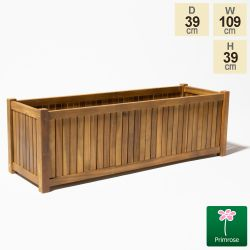 109cm Trough Hardwood Planter