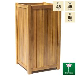 85cm Tall Cube Wooden Planter