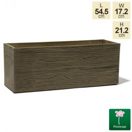 54.5cm Trough Rustic Wood Planter