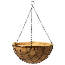 40.6cm Wire Criss Cross Hanging Basket with Coco Liner