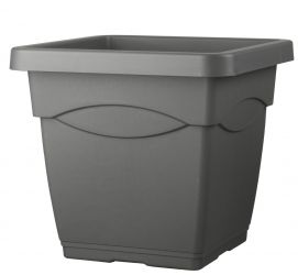 45cm Quadro Anthracite Square Planter
