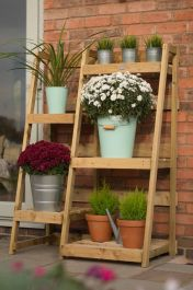 5 Tier Wooden Garden Etagere Plant Stand
