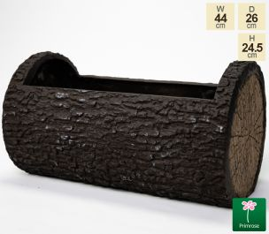 44cm Dark Wood Effect Fibrecotta Trough Planter by Primrose™