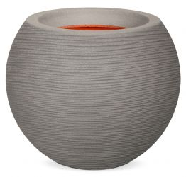 Capi Nature Rib NL Vase Ball Planter in Grey 40x32