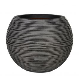 62cm Capi Nature Rib NL Vase Ball Planter in Anthracite