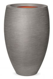 84cm Capi Nature Rib NL Elegant Deluxe Vase Planter in Grey