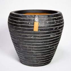 Capi Nature Row NL Round Tapered Vase Planter in Anthracite 42x38