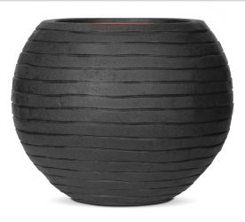 62cm Capi Nature Row NL Vase Ball Planter in Black