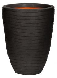 58cm Capi Nature Row NL Elegant Low Vase Planter in Black