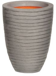 58cm Capi Nature Row NL Elegant Low Vase Planter in Grey