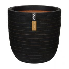 43cm Capi Nature Row NL Egg Planter in Dark Brown