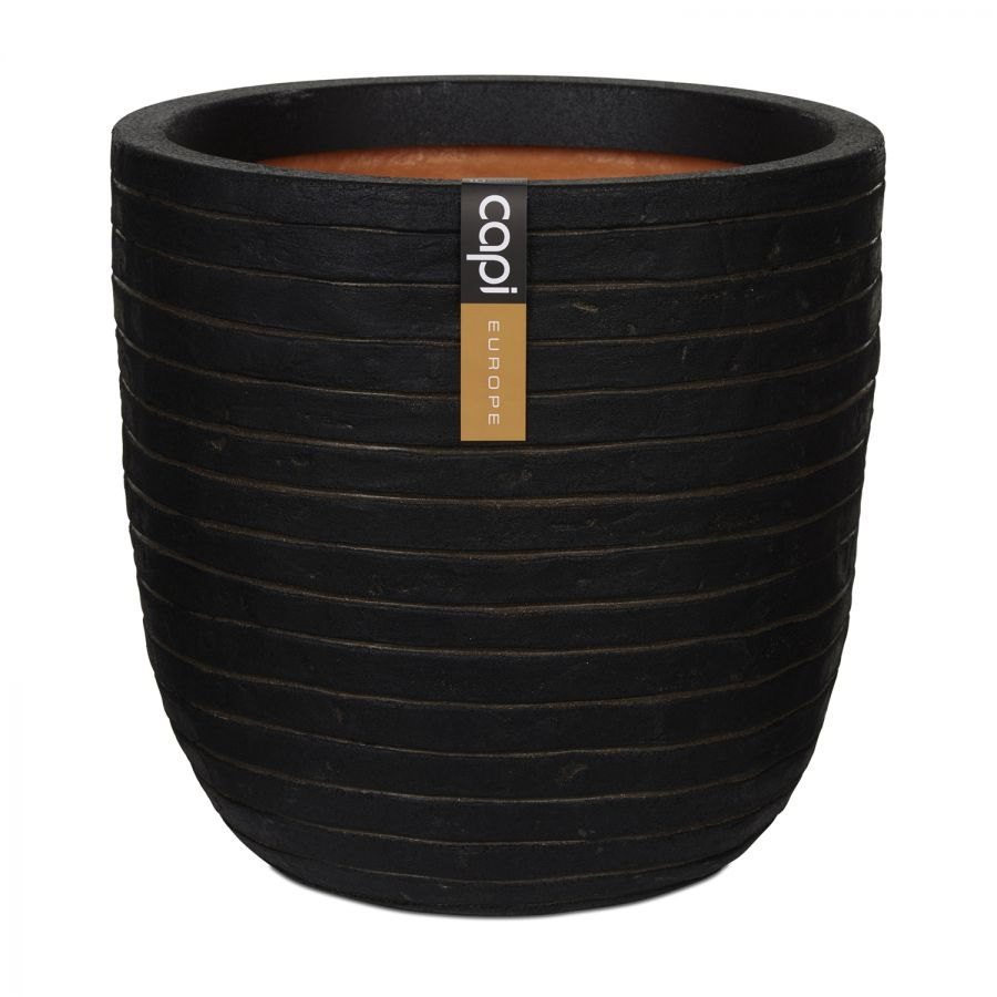 35cm Capi Nature Row NL Egg Planter in Dark Brown