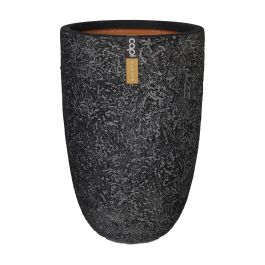 58cm Capi Nature Rock NL Vase Elegant Planter in Black