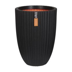 73cm Capi Urban NL Vase Elegant Low Tube Planter in Black