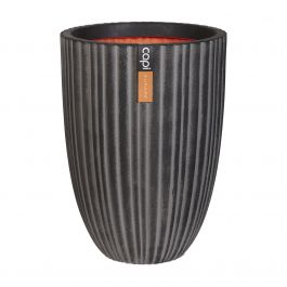 46cm Capi Urban NL Vase Elegant Low Tube Planter in Anthracite