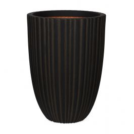 73cm Capi Urban NL Vase Elegant Low Tube Planter in Dark Brown