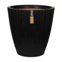 55cm Capi Urban NL Taper Round Tube Vase Planter in Black