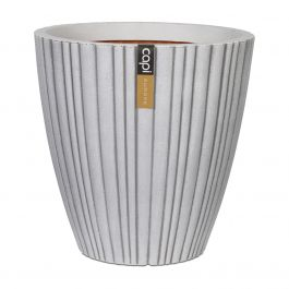 55cm Capi Urban NL Taper Round Tube Vase Planter in Ivory
