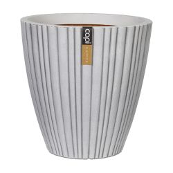 Capi Urban NL Taper Round Tube Vase Planter in Ivory 70x70