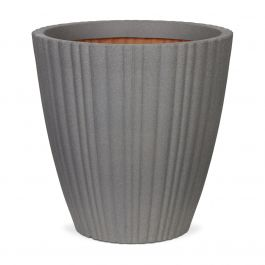 70cm Capi Urban NL Taper Round Tube Vase Planter in Grey