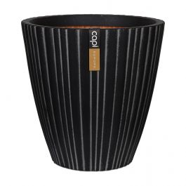 55cm Capi Urban NL Taper Round Tube Vase Planter in Anthracite