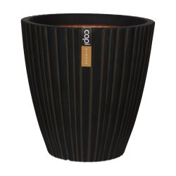 70cm Capi Urban NL Taper Round Tube Vase Planter in Dark Brown
