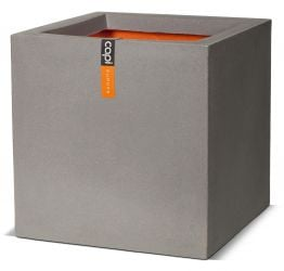 50cm Capi Urban NL Smooth Planter Square Large in Grey
