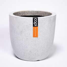 54cm Capi Lux Terrazzo Egg Planter Large in Grey