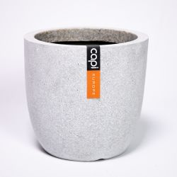28cm Capi Lux Terrazzo Egg Shaped Pot Extra Small in Grey
