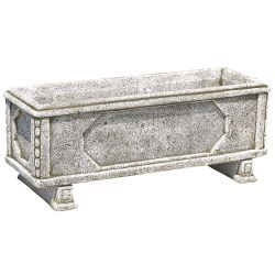 1m Concrete Grande Jardinera Arcón Grey Trough Planter - By Primrose™