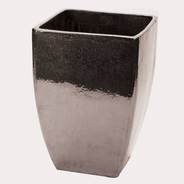 38cm Ceramic Mirror Glaze Tall Square Planter