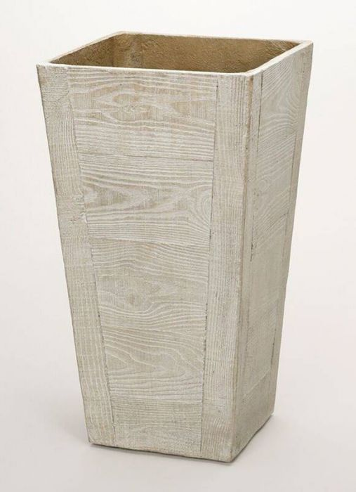 50cm Terrace Wood Effect Beige Tall Square Planter