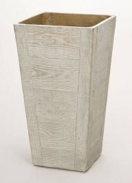 65cm Terrace Wood Effect Beige Tall Square Planter