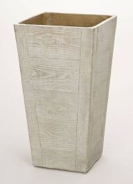 75cm Terrace Wood Effect Beige Tall Square Planter