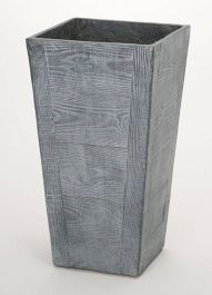 65cm Terrace Wood Effect Grey Tall Square Planter