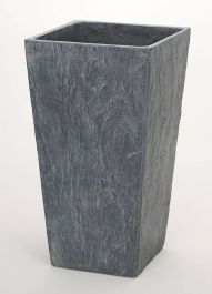 50cm Slate Effect Grey Tall Square Planter