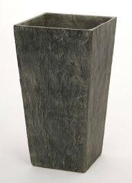65cm Slate Effect Dark Grey Tall Square Planter
