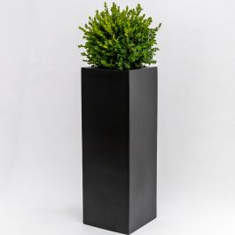 H1m Large Polystone High Cube Planter in Black
