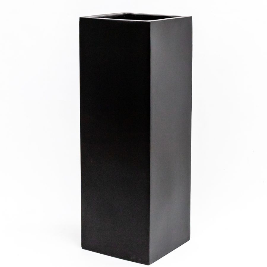 H1.5m XL Stone Composite High Cube Planter in Black