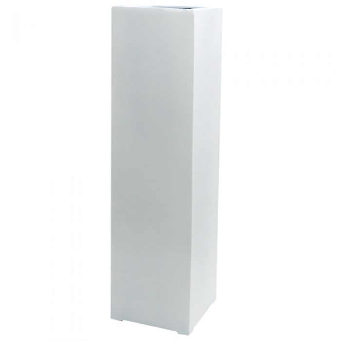 H1.5m XL Stone Composite High Cube Planter in White