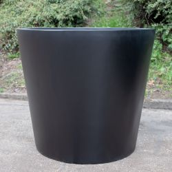 H73cm Large Classic Stone Composite Planter in Black
