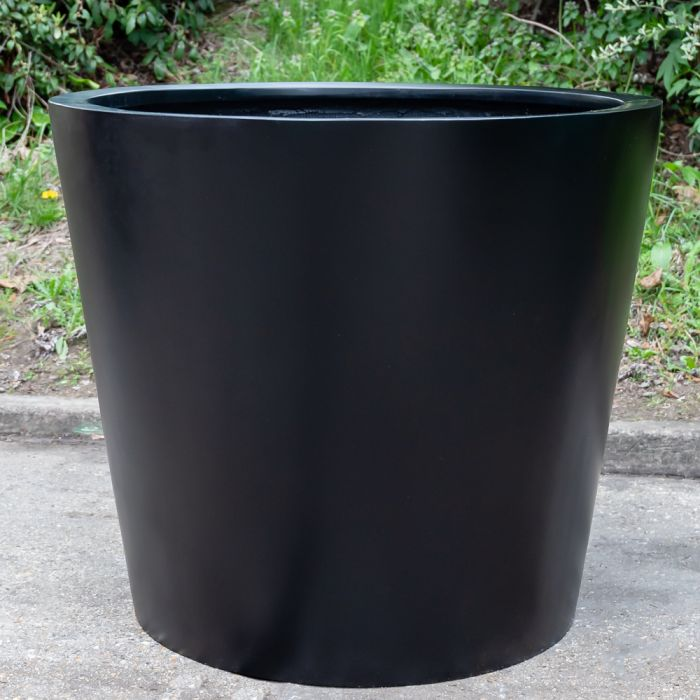 H85cm XL Classic Stone Composite Planter in Black